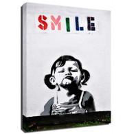 Banksy Canvas Print - Smile