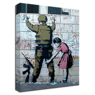 Banksy Canvas Print - Soldier Search