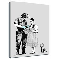 Banksy Canvas Print - Stop And Search