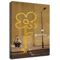 Banksy Canvas Print - Yellow Flower