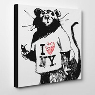 Banksy Canvas Print - I Love NY Rat