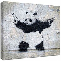 Banksy Canvas Print - Panda Wall