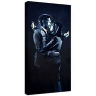 Banksy Canvas Print - Mobile Phone Lovers