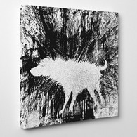 Banksy Canvas Print - Wet Dog