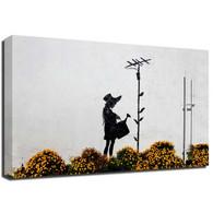 Banksy Canvas Print - Flower Aerial