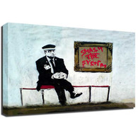 Banksy Canvas Print - Gallery Guard