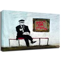 Banksy Canvas Print - Gallery Guard