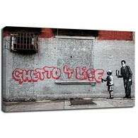 Banksy Canvas Print - Ghetto 4 life