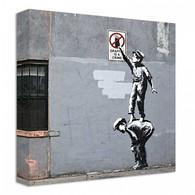 Banksy Canvas Print - Graffiti is a crime