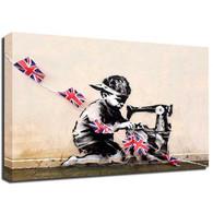 Banksy Canvas Print -Jubilee