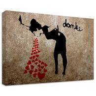 Banksy Canvas Print -Love Sick