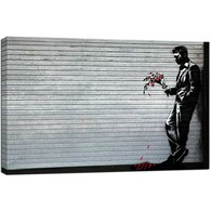 Banksy Canvas Print - Lover Waiting