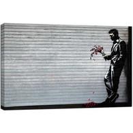 Banksy Canvas Print - Lover Waiting