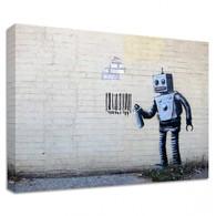 Banksy Canvas Print - NY Robot