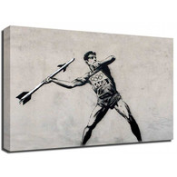 Banksy Canvas Print - Olympic Javelin