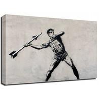 Banksy Canvas Print - Olympic Javelin