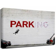 Banksy Canvas Print - Parking