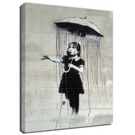 Banksy Canvas Print - Umbrella Girl