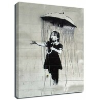 Banksy Canvas Print - Umbrella Girl