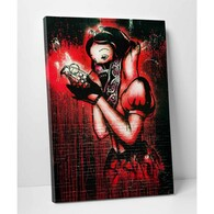 Banksy Canvas Print - The Big Bad Apple