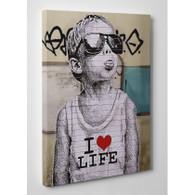 Banksy Canvas Print - I Love Life Boy