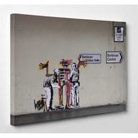 Banksy Canvas Print - Jean Michel Basquiat