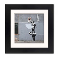 Banksy Framed Print with Mount- Graffiti is a crime