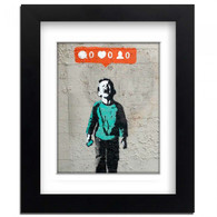 Banksy Framed Print with Mount- Instagram