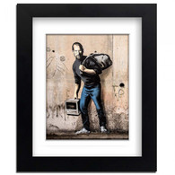 Banksy Framed Print with Mount - Steve Jobs