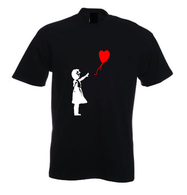 White Balloon Girl T Shirt