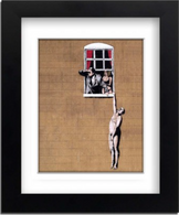 Banksy Framed Print with Mount - Cheating
