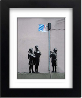 Banksy Framed Print with Mount - Tesco Bag