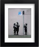 Banksy Framed Print with Mount - Tesco Bag