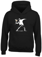 White flower thrower Hoodie