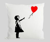 Red Balloon Girl Cushion