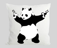 Shooting Panda Cushion
