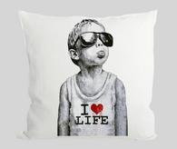 I love life boy Cushion