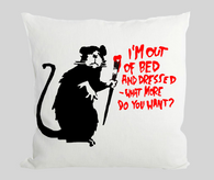 Out of bed rat Cushion