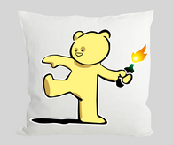 Teddy Bear Bomber Cushion