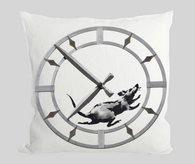 Rat against time Cushion