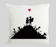 Kids with guns Cushion