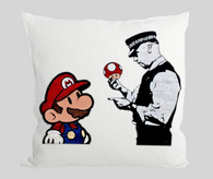 Mario and policeman Cushion