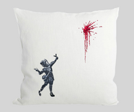 Girl Slingshot Flowers Cushion