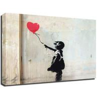 Banksy Canvas Print - Red Balloon Girl