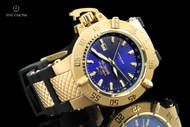 Invicta Men's 50mm Subaqua Noma III 18kt Gold Plated Swiss Quartz GMT Strap Watch - 1150