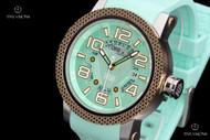 TechnoSport Unisex 48mm Quartz Mint Green Silicone Strap Watch w/ Extra Strap- TS6-3000-7