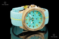 TechnoSport Unisex 47mm Swiss Parts Quartz Multifunction Aquamarine / Lime Silicone Strap Watch - TS-780-10