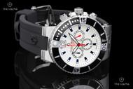 Giorgio Milano Leonardo White Dial Chronograph Silicone Strap Watch - 884ST0213