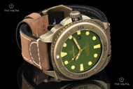 Giorgio Milano Explorer Green Dial Mechanical Automatic Leather Strap Watch w/ Extra Strap - 952SGA123