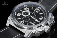 Giorgio Milano Marino Black Dial Chronograph Leather Strap Watch w/ Extra Strap - 960ST032